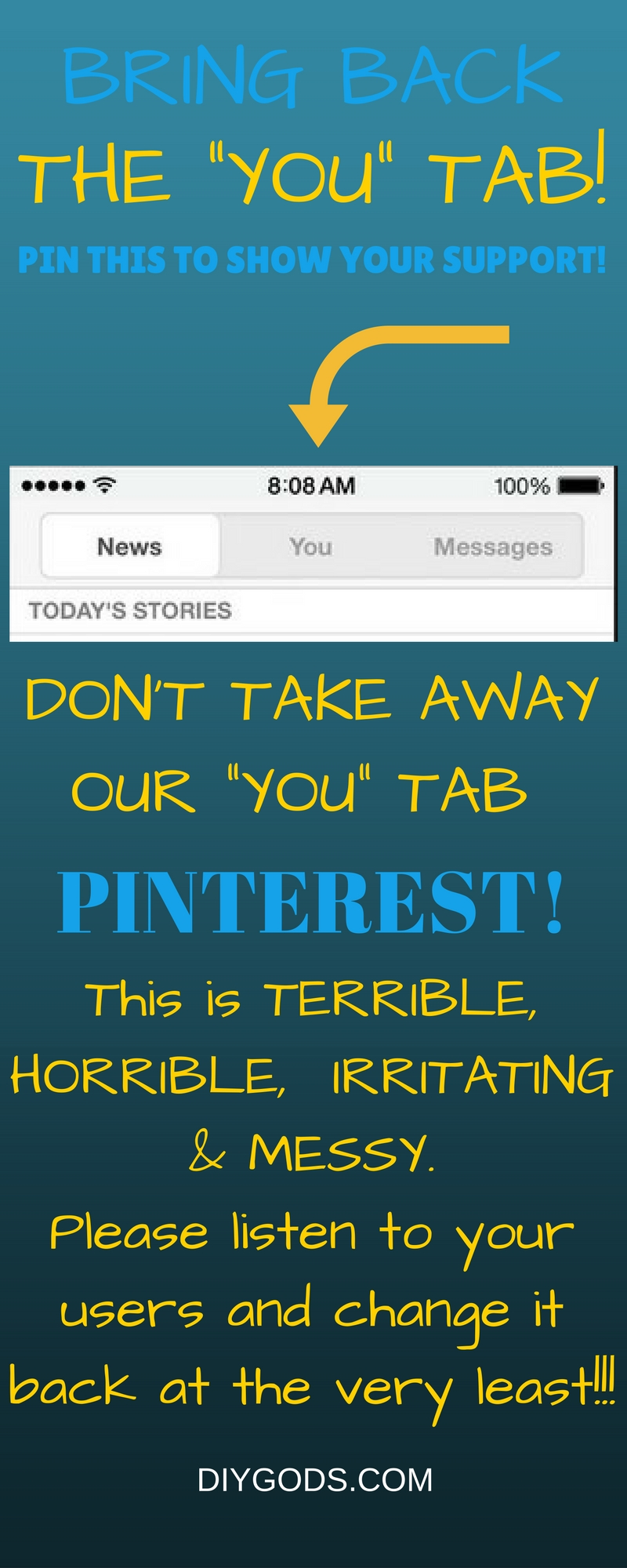 Bring Back The YOU Tab Pinterest
