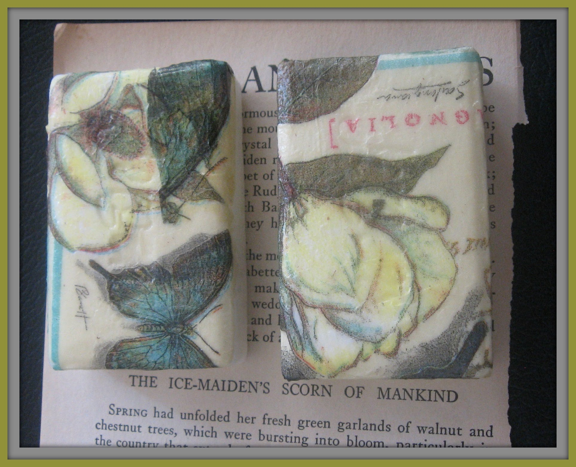 How to Make Decoupage Soap with Paper Napkins/ DIY Wedding Favors ideas