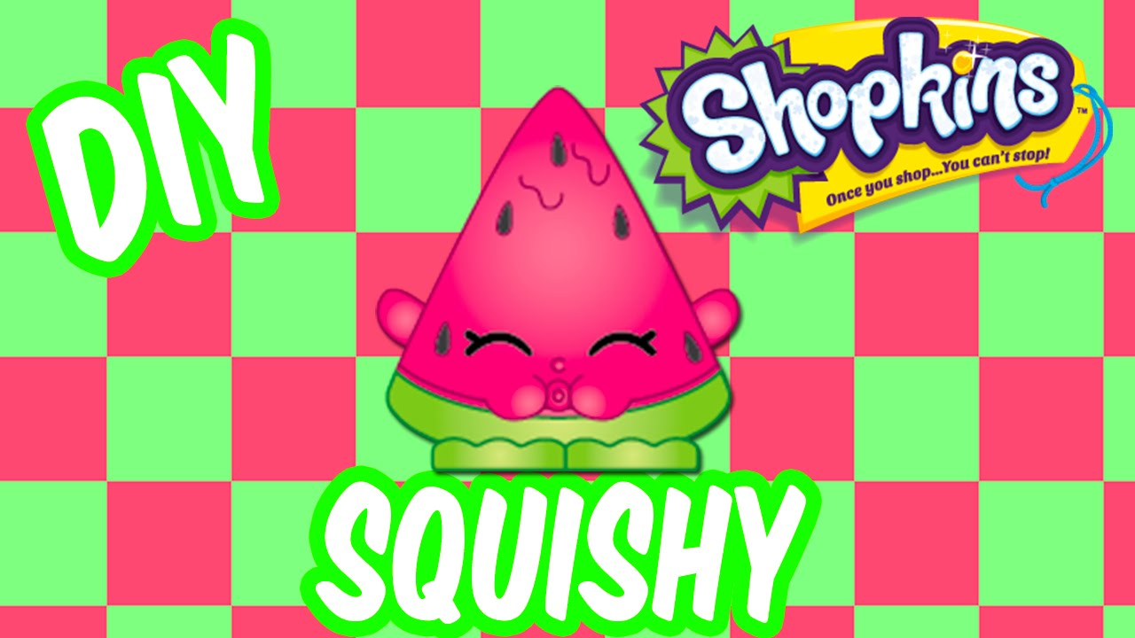 Shopkins DIY SQUISHY How To Make Melonie Pips Inspired Crafts By Kawaii Kunicorn