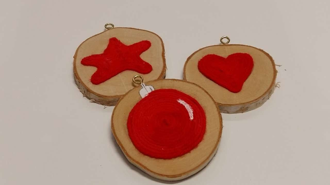 How To Make Christmas Ornaments With A Wood Disc – DIY Crafts Tutorial – Guidecentral