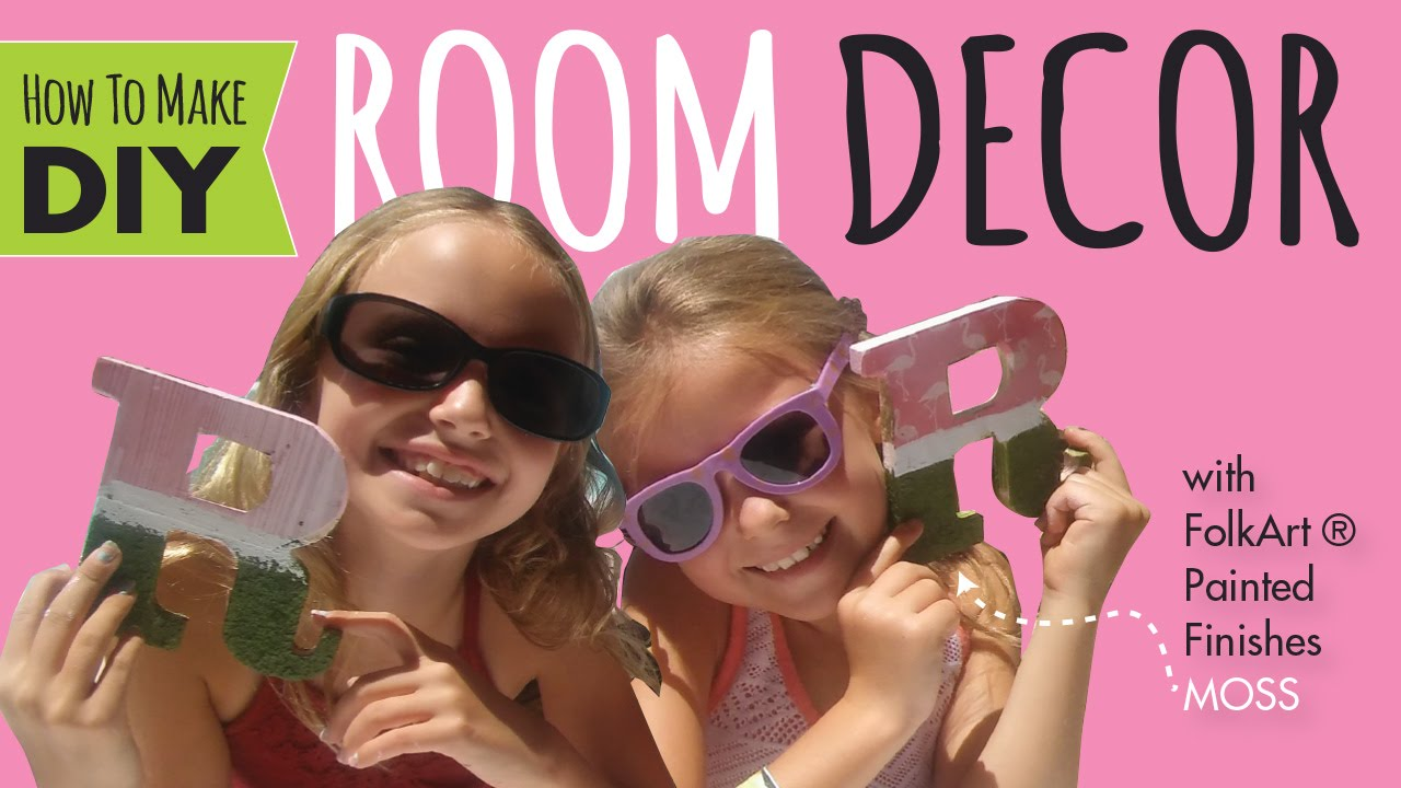 DIY Room Decor | How to Decorate Wood Letters  | Kids Crafts