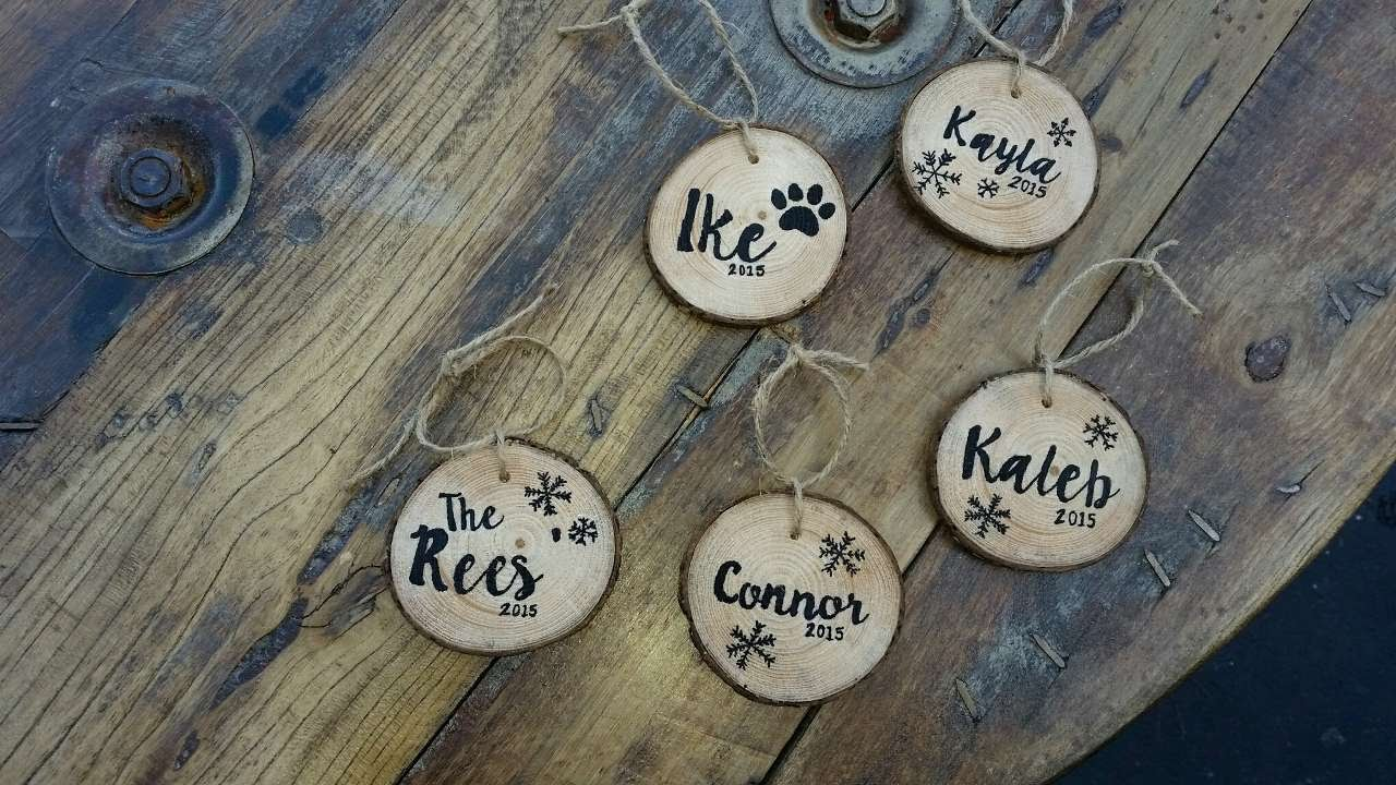 How To DIY Personalized Wood Slice Ornaments – DIY Crafts Tutorial – Guidecentral