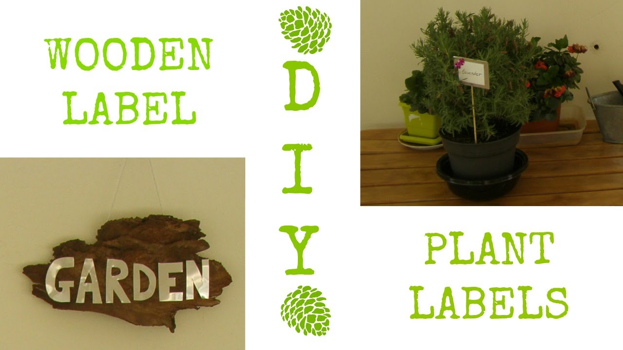 DIY: 2 garden decor ideas (plant labels & wooden sign)