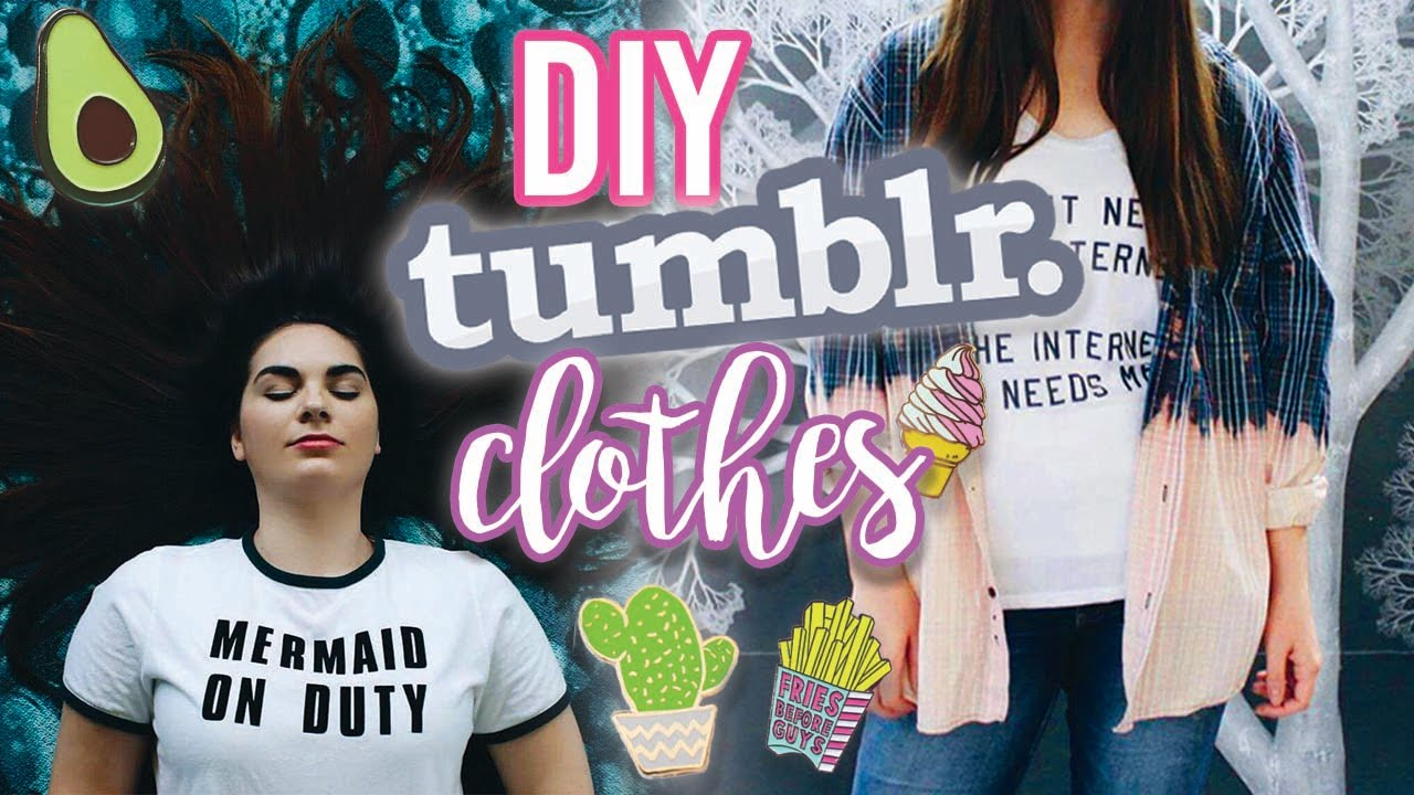 DIY BACK TO SCHOOL TUMBLR CLOTHES- Thrift Store Flip #2