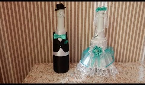 how to make the decor of the wedding the bride  Bottle D.I.Y…Wedding Favors ideas..