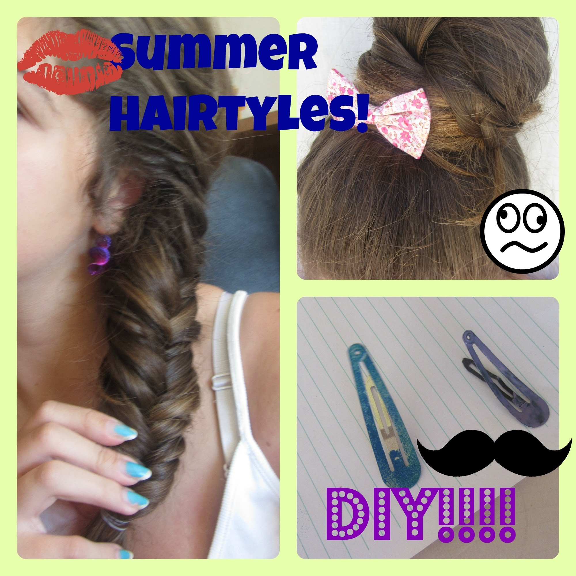 3 Summer Hairstyles+DIY Accessories! ~Ελληνικα~