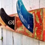 Paint and distress furniture DIY Surf Fin Coat Rack with CeCe Caldwell paint