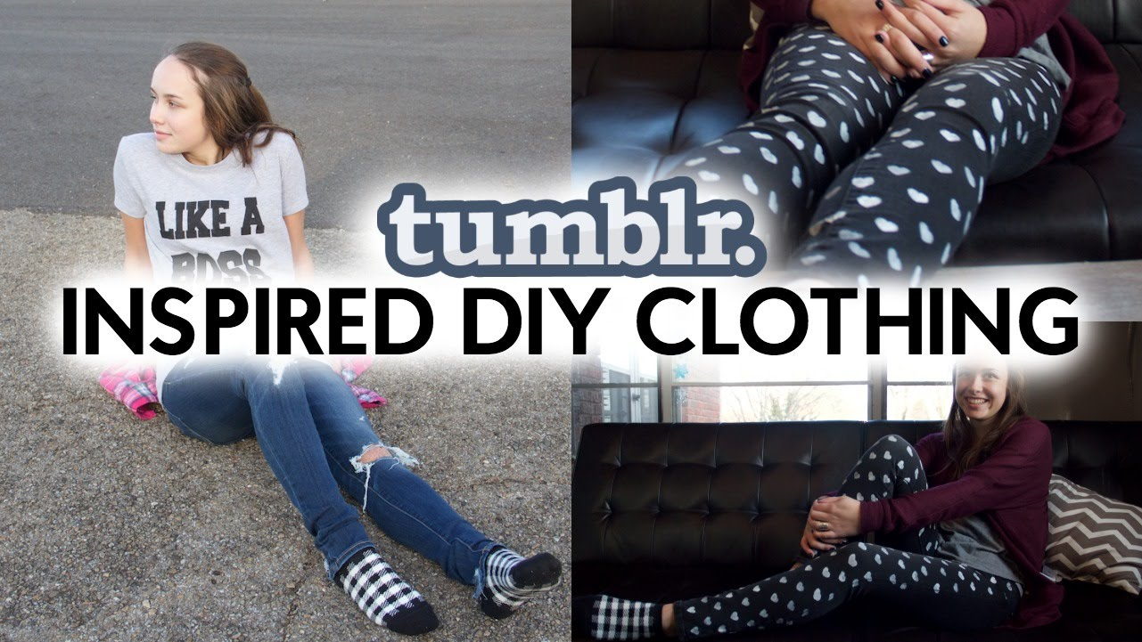 TUMBLR INSPIRED DIY CLOTHING | Tanner & Courtney