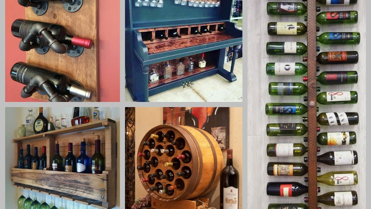 DIY Wine Rack Ideas – Creative Wine Shelf DIY Home Decor