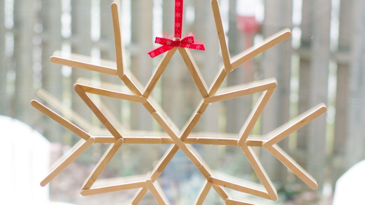 Make a Cool Craft Stick Snowflake – DIY Crafts – Guidecentral