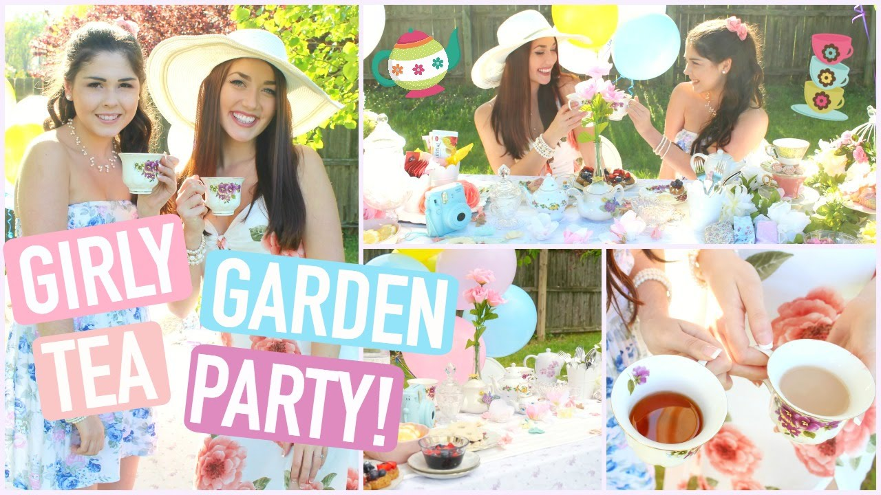 Girly Garden Tea Party –  DIY Treats, Decor, Essentials, & Outfits! (COLLAB W/ CHLOE GRIFFIN!)
