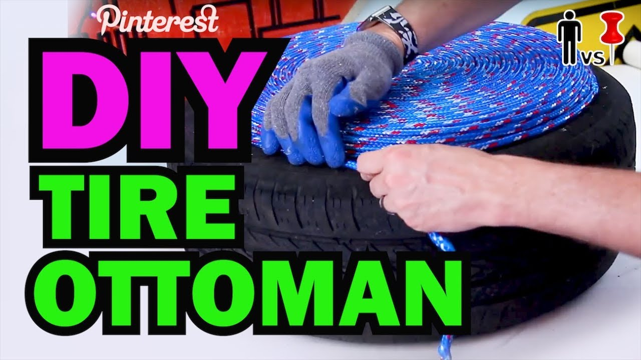 DIY Tire Ottoman – The NEW Man Vs Pin – Pinterest Test #1