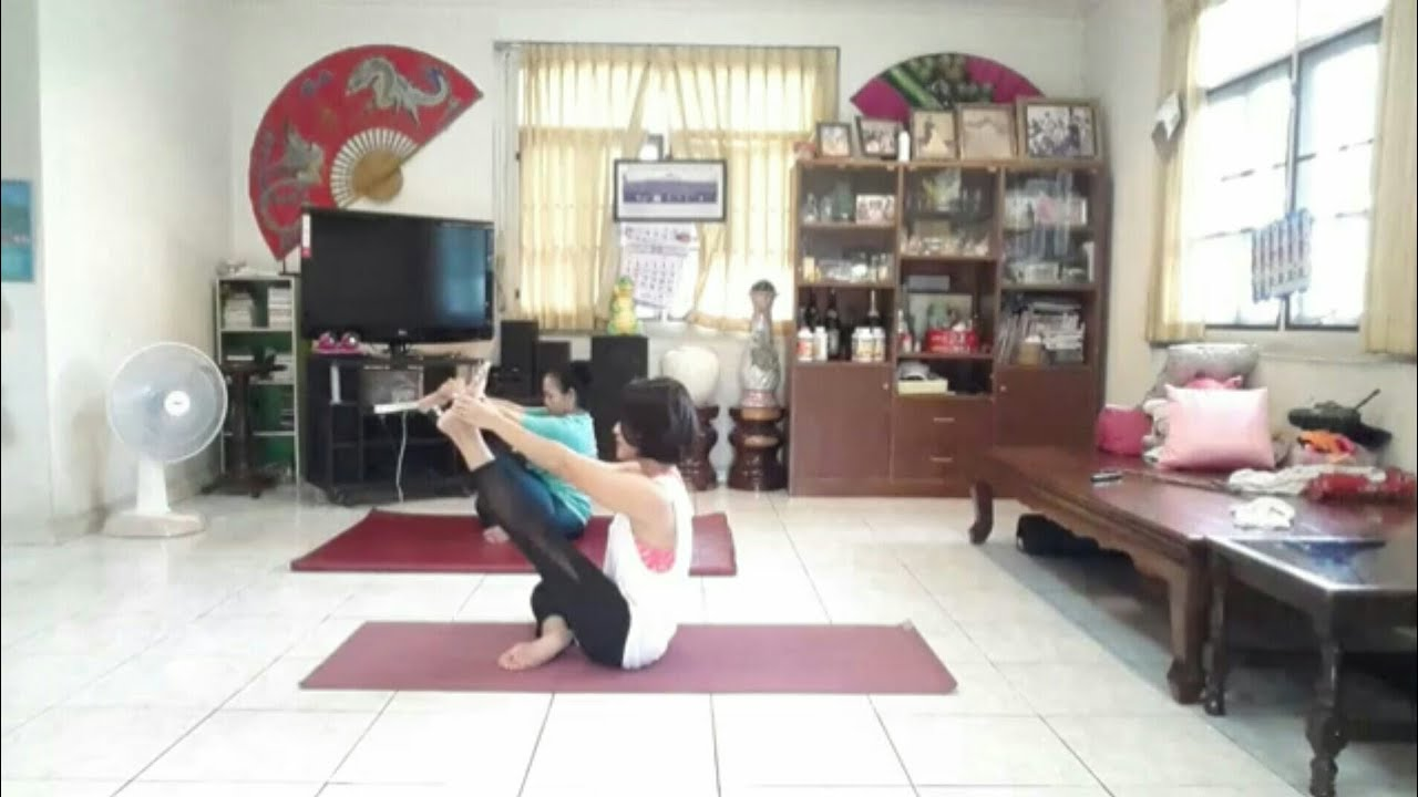 Live สอนโยคะ 19 ก.ย.61 | yoga weightloss | yoga burn | workout