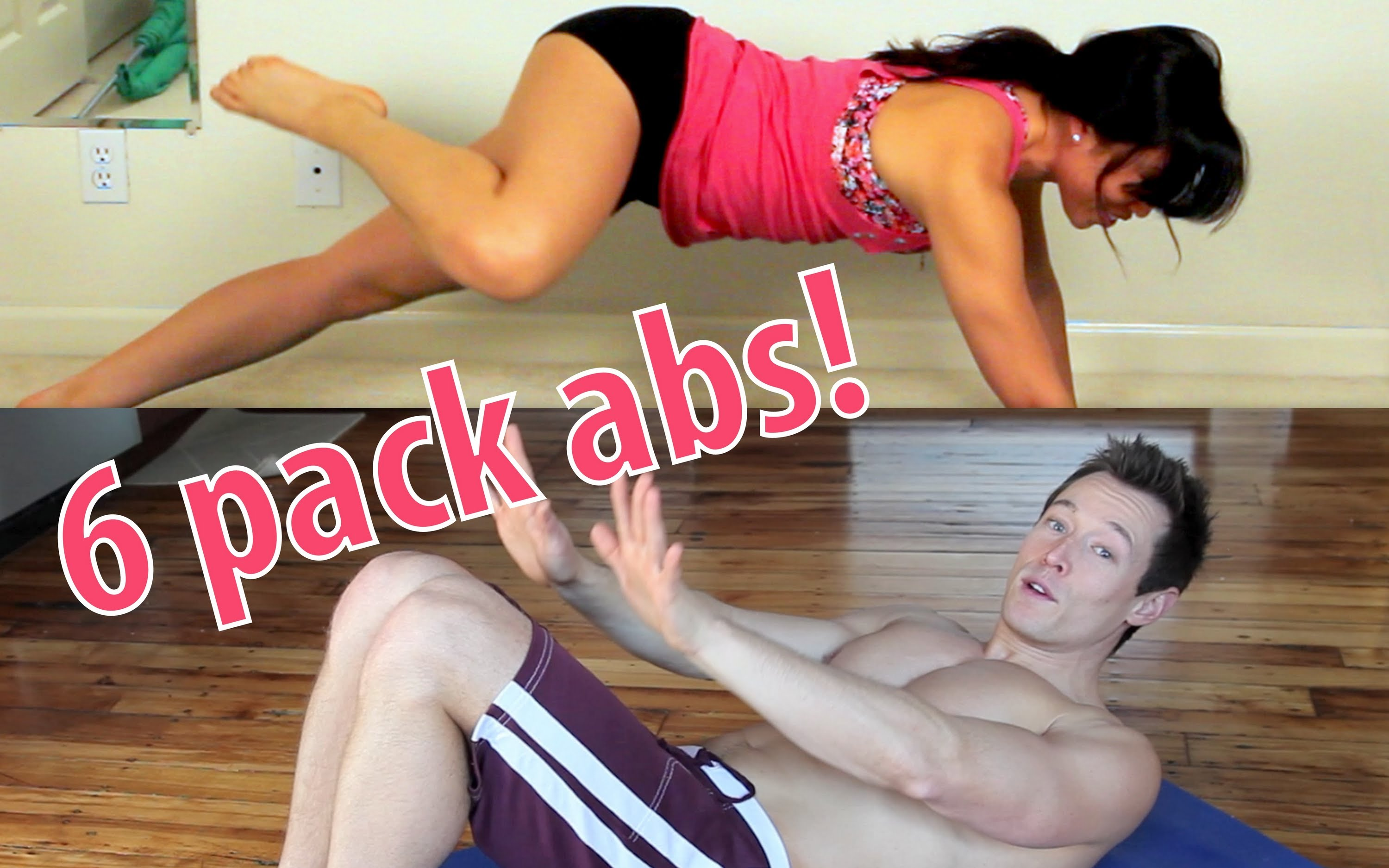 6 Pack Abs in 6 Moves! With Davey Wavey & Blogilates