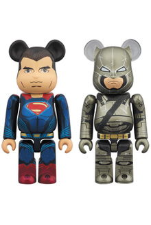 Superman and Armored Batman Be@r Bricks Front