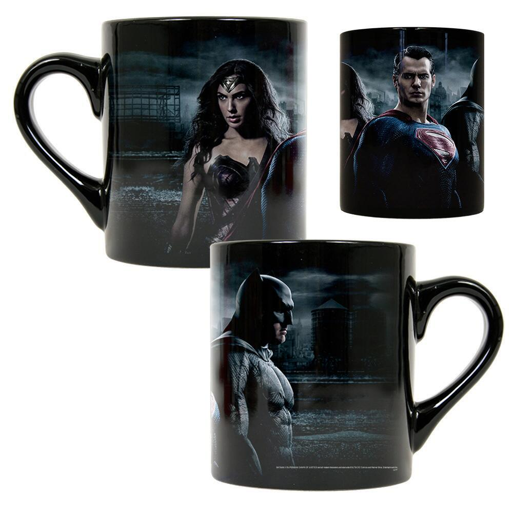Batman, Superman, and Wonder Woman Mugs