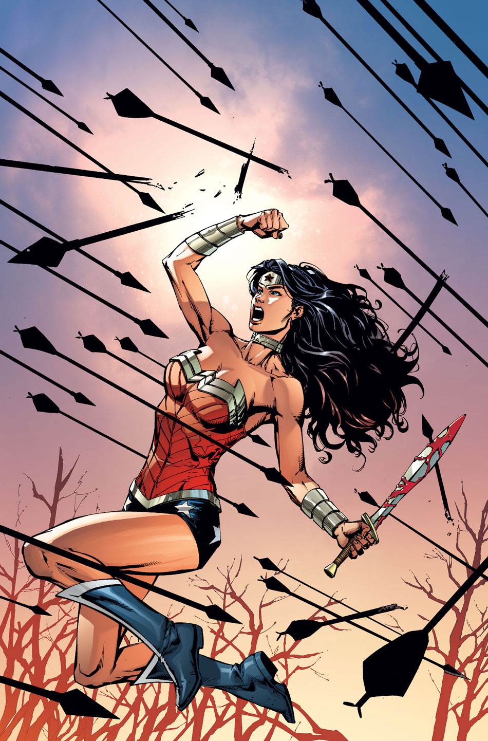 Wonder Woman #52 variant cover by David Finch and Matt Banning