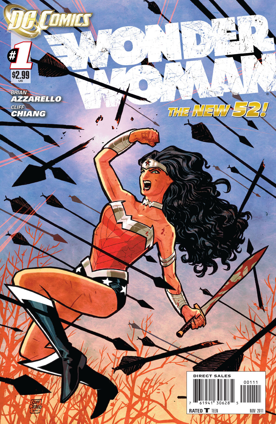 Wonder Woman #1 cover by Cliff Chiang