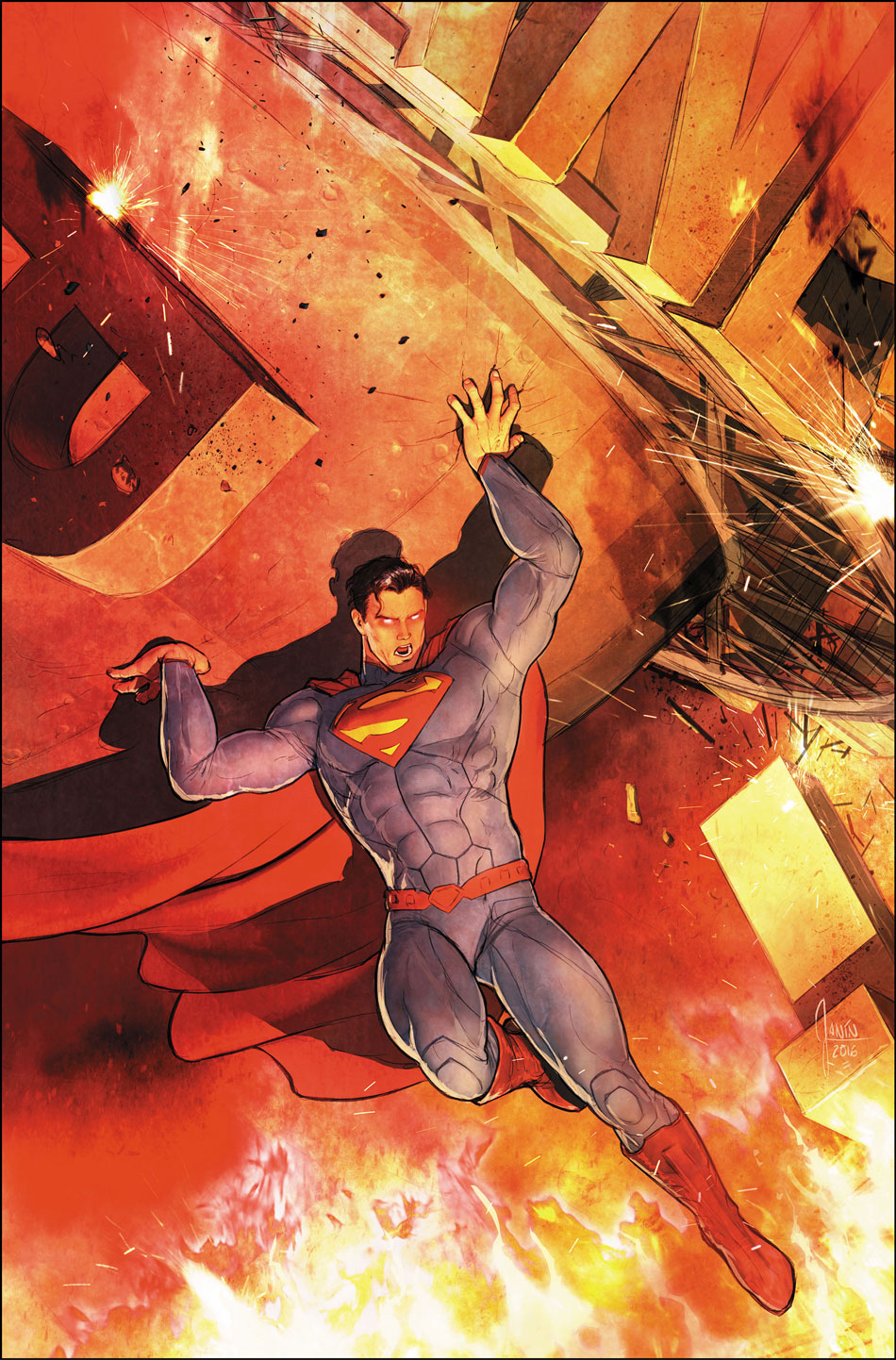 Superman #52 variant cover by Mikel Janin