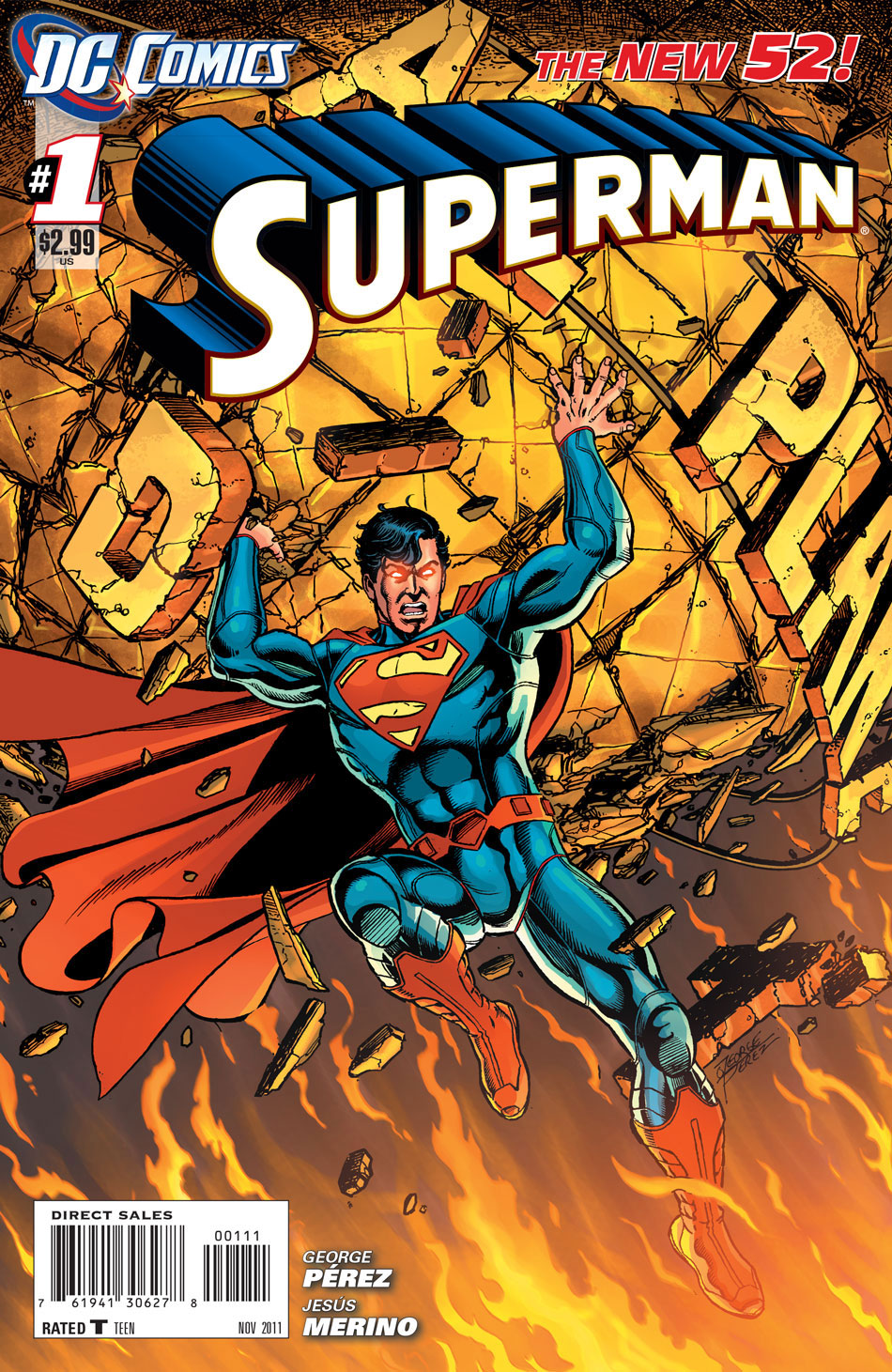 Superman #1 cover by George Perez and Brian Buccellato