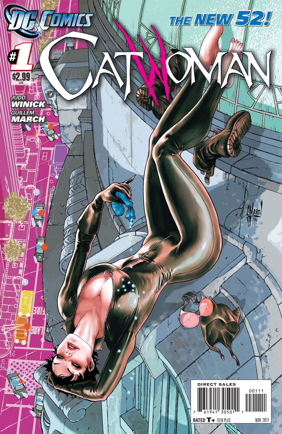 Catwoman #1 cover by Guillem March