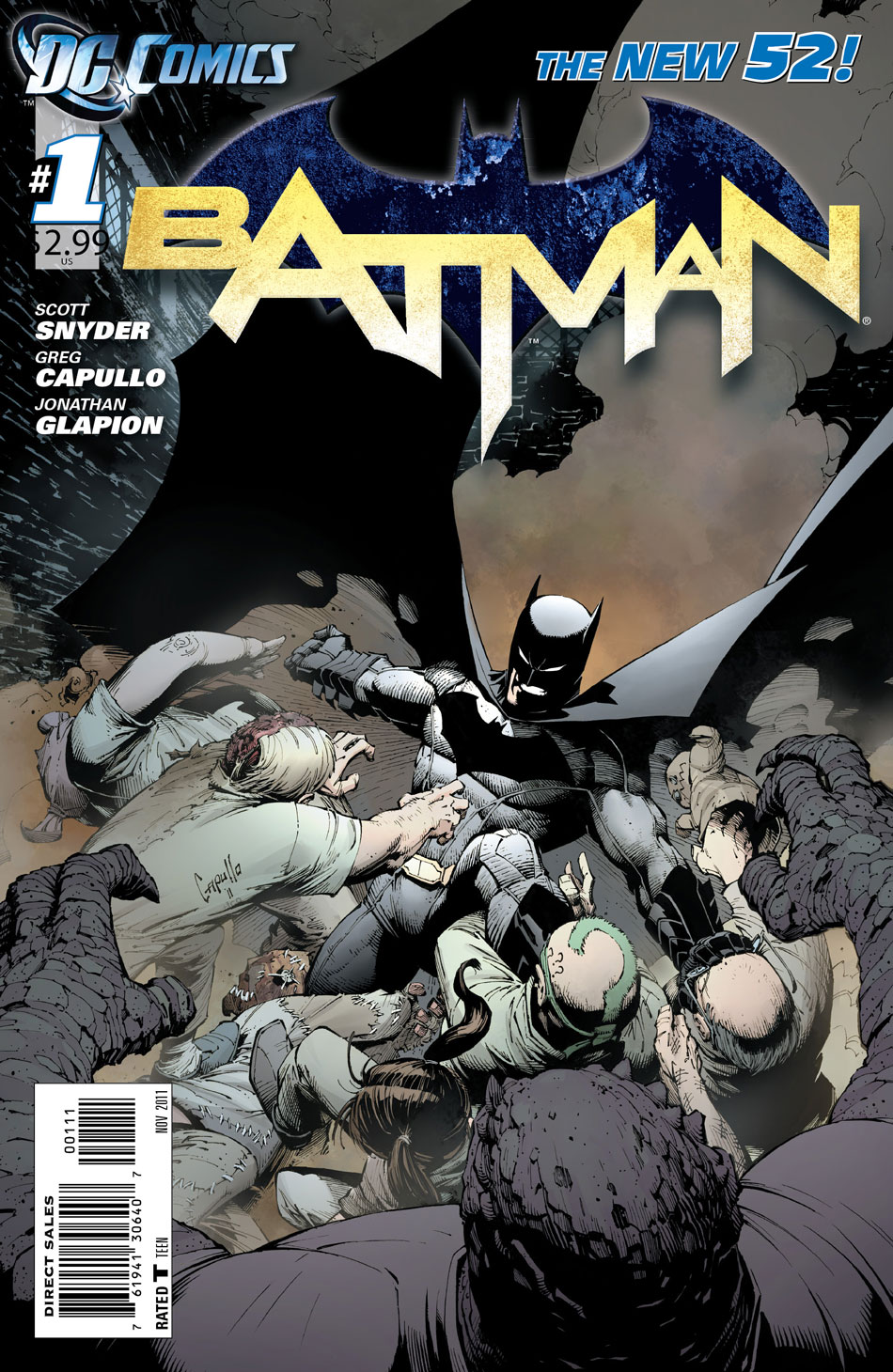 Batman #1 cover by Greg Capullo and Alex Sinclair