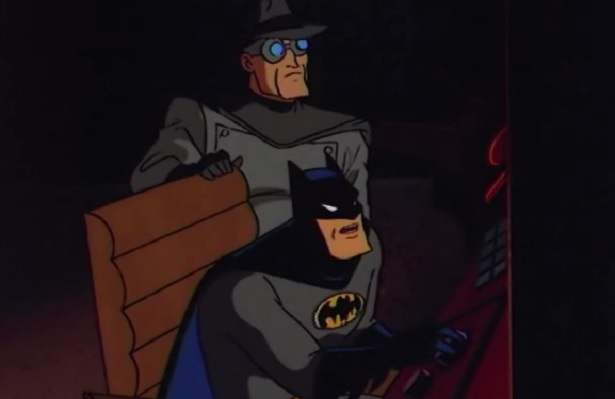Gray Ghost Helping Batman