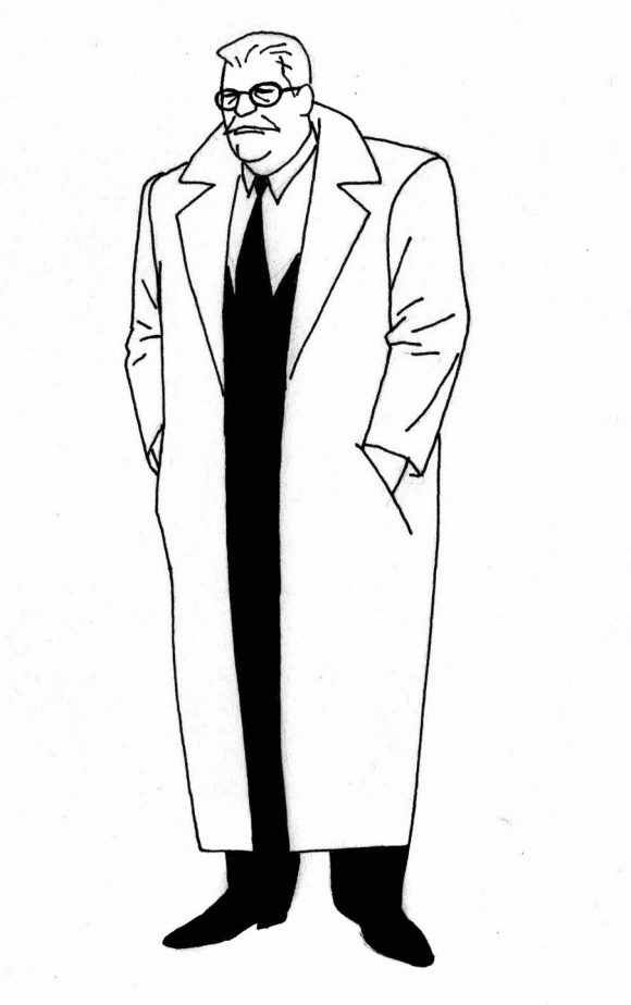 Early Concept for Commissioner Gordon