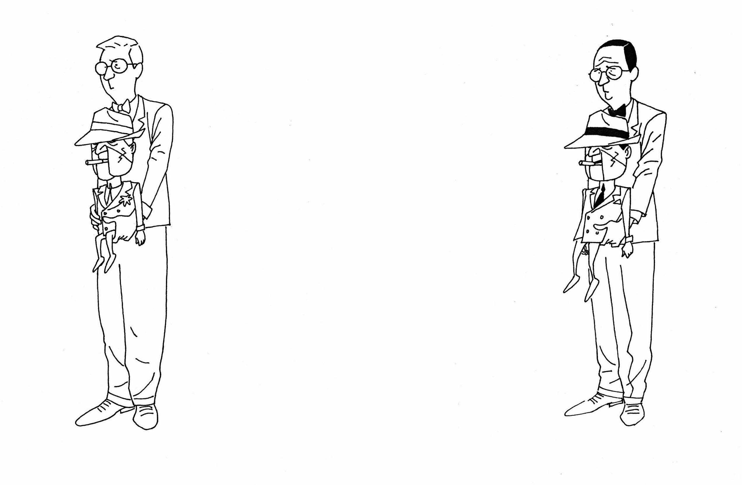 Early Concept for Scarface and Ventriloquist