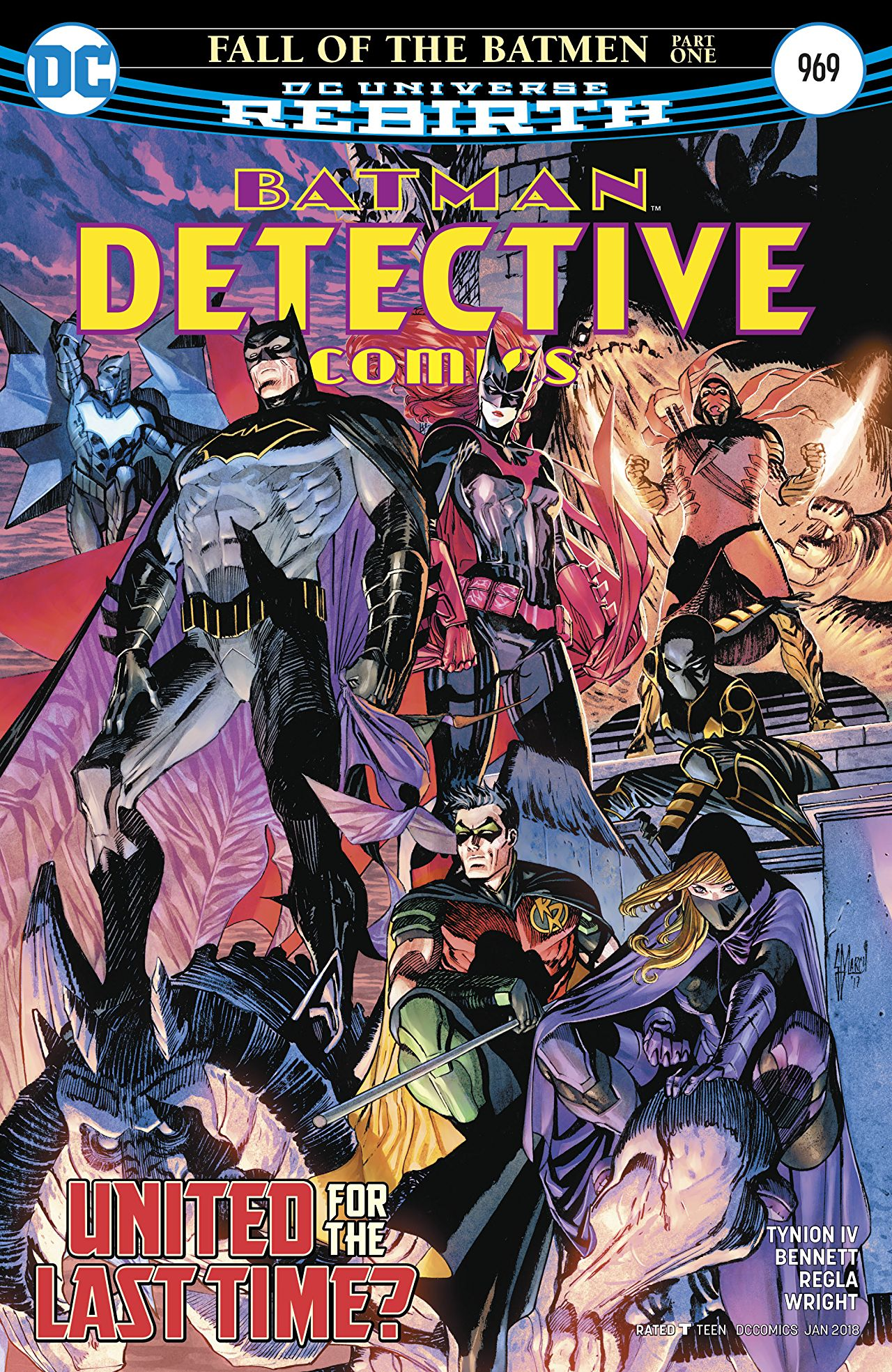The cover for the next issue of Detective - Fall Of The Batmen Pt. 1