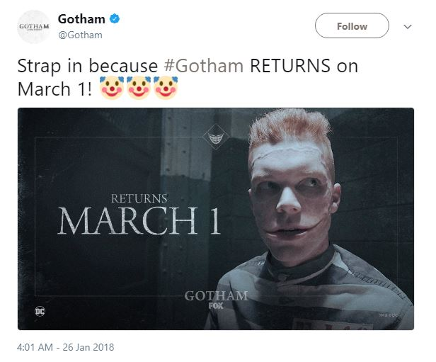 Gotham returns March 1st