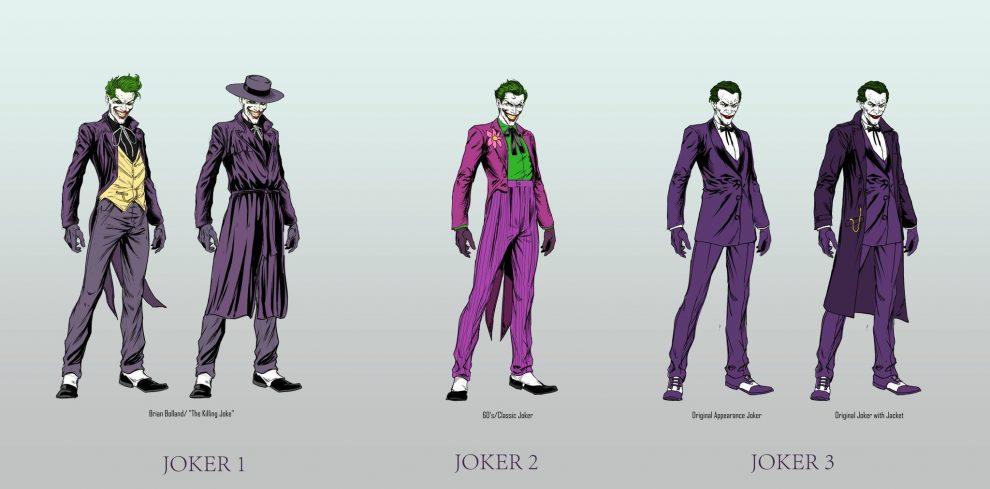 Joker inspirations from 'The Killing Joker', 'Batman' (1989) and Classic Joker