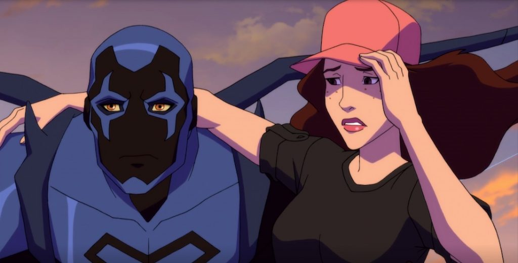 Blue Beetle and Traci