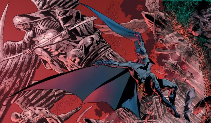 The Batman's Grave - art by Bryan Hitch