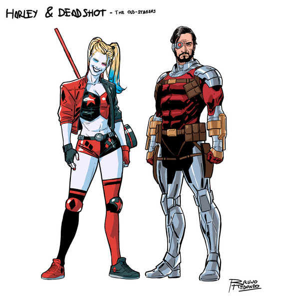 Harley Quinn & Deadshot - Suicide Squad character design by Bruno Redondo