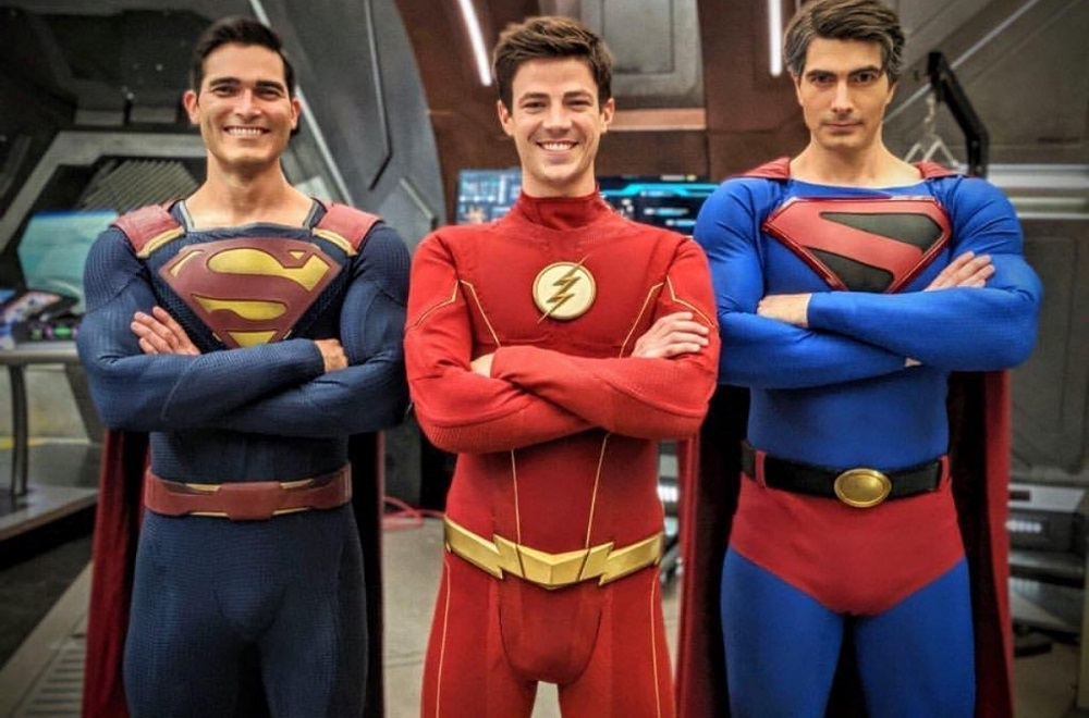 "The CW's ""Crisis On Infinite Earths"" - Flash and Superman, men... mans?!?"