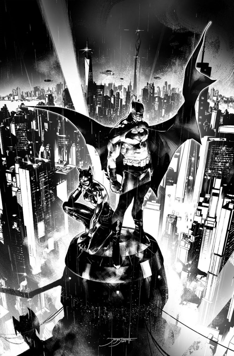 Batman #90 B/W Cover