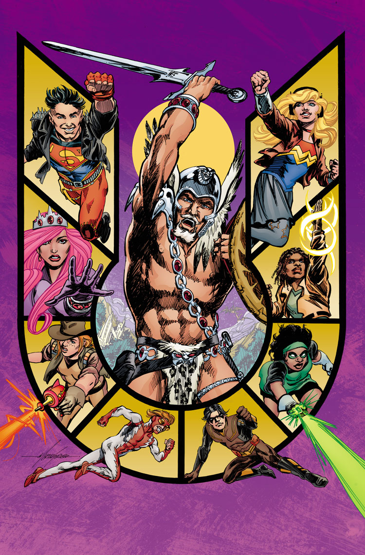 Young Justice #13 alternate cover by Mike Grell