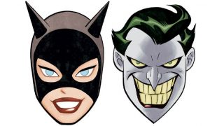 *oth Anniversary masks by Ryan Sook, based on Bruce Timm designs