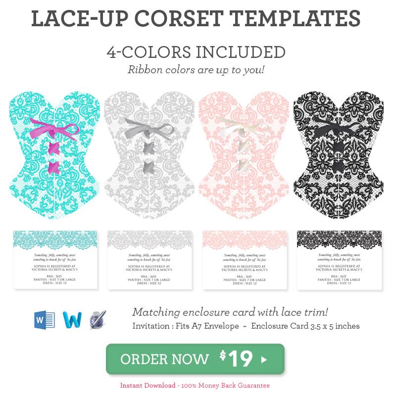 corset invitation template