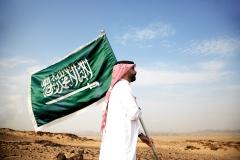 حامل العلم السعودي