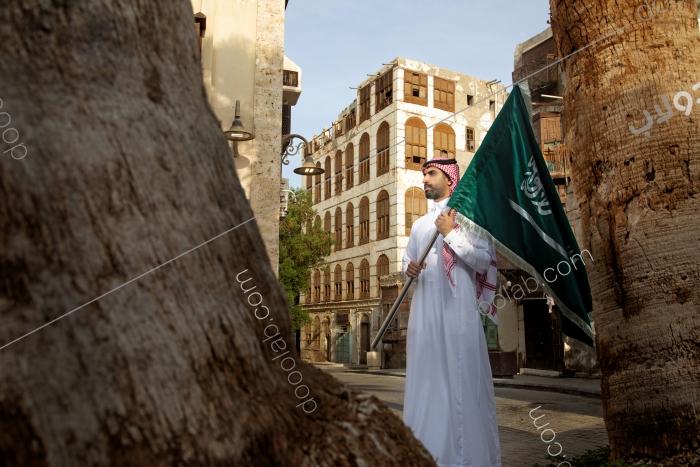 حامل الراية السعودية