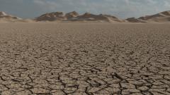 خلفية لاندسكيب ارض صحراء متشققة ونفود رمال