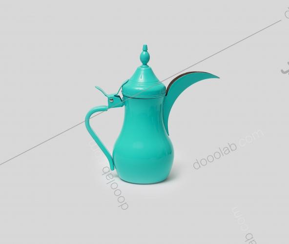دلة قهوة باللون التركوازي