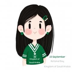 اليوم الوطني السعودية بنت