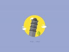 برج بيزا المائل  - إيطاليا