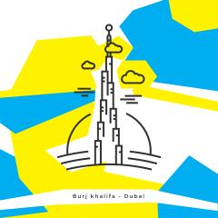 برج خليفة - line the place