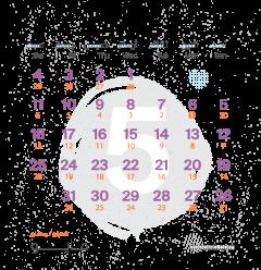 تقويم شهر مايو ٢٠١٩