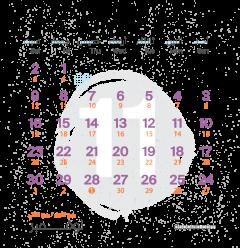 تقويم شهر نوفمبر ٢٠١٩