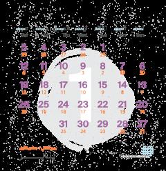تقويم شهر يناير ٢٠١٩
